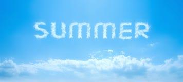 天空夏天文本 图库摄影