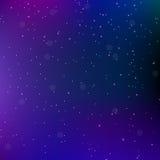 天空夜空间与星的摘要背景 宇宙背景 也corel凹道例证向量 免版税库存照片