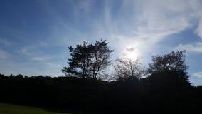 天空太阳美好的夏天 免版税库存照片