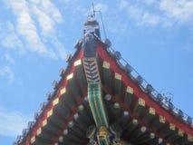 天空寺庙在瓷的 库存照片