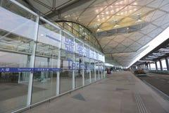 天空广场路hk机场 库存图片