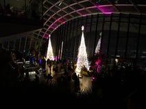 天空庭院伦敦圣诞节 库存图片