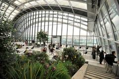 天空庭院在一个摩天大楼在伦敦市,英国 库存照片