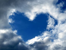 天空心脏 库存图片