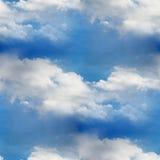 天空无缝的云彩蓝色墙纸纹理 库存照片