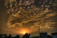 天空日落自然秀丽 库存图片