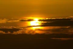 天空日落 库存图片