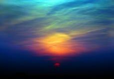 天空日落 免版税图库摄影
