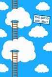 天空是限额 免版税库存图片