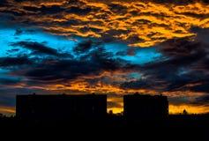 天空晚上 库存图片