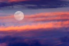 天空月亮云彩 免版税图库摄影