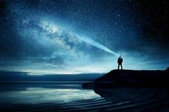 天空有很多光 免版税库存图片