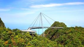 天空桥梁 凌家卫岛 免版税库存图片