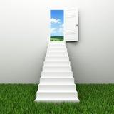 天空楼梯 免版税库存照片