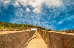 天空楼梯 免版税图库摄影
