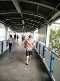 天空步行在曼谷 免版税库存图片
