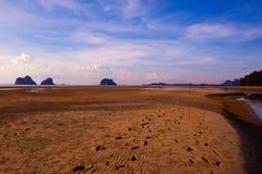 天空海滩 免版税库存照片