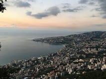 天空海视图风景11月 库存图片