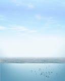 天空海 库存图片