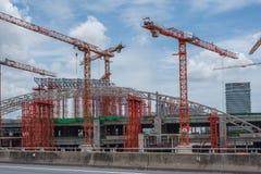 天空火车Bangsue-Rangsit建造场所  免版税库存照片