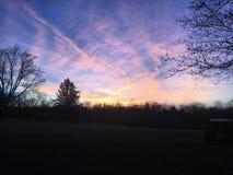 天空的不同的树荫 库存照片