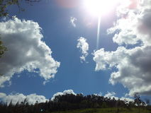天空的云彩 免版税库存图片