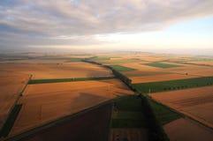 从天空的农业土地在德国 免版税库存照片