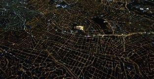 从天空的城市 图库摄影