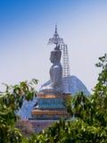 天空的大菩萨在泰国 图库摄影