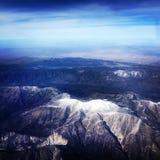 从天空的山 库存图片