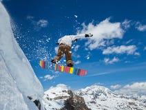 天空的挡雪板 免版税图库摄影