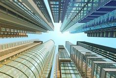 天空的摩天大楼 库存照片