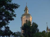 天空的教会 库存图片