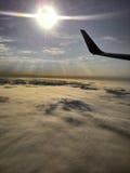 从天空的日出 免版税库存照片