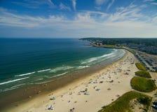 从天空的海滩天 库存照片