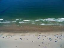 从天空的海滩生活 图库摄影