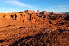 天空的犹他白色外缘路Canyonlands NP-海岛 库存图片
