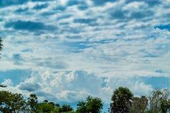 天空的秀丽与云彩的和太阳 库存照片