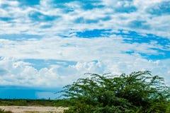 天空的秀丽与云彩的和太阳 图库摄影