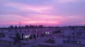 天空的美好的颜色 免版税库存图片