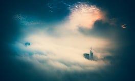天空的香港市 库存图片