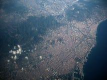 从天空的巴塞罗那 图库摄影