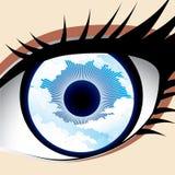 天空眼睛 库存图片