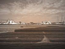 天空码头 免版税图库摄影