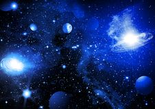 天空空间 皇族释放例证