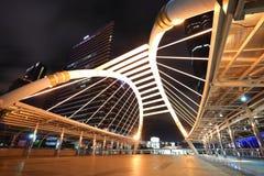 天空结构结构在曼谷喜欢蜘蛛 免版税库存图片