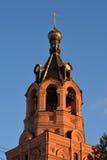 天空背景的东正教 库存图片