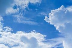 天空自然风景背景 图库摄影