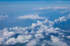 天空蔚蓝顶视图背景 免版税库存照片