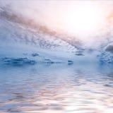 天空覆盖太阳海洋 图库摄影